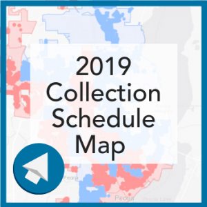 2019 Recycling Schedule Map